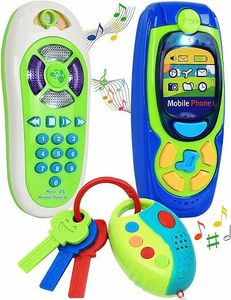Click N Play Pretend Play Cell Phone TV Remote