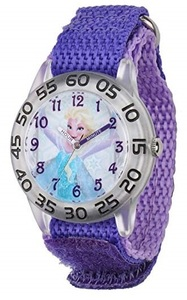 Disney Frozen Elsa Girls Plastic Time Teacher Watch