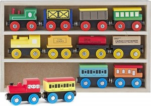 Play wooden train set