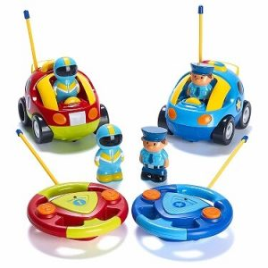 Prextex Pack of 2 Cartoon Police Car