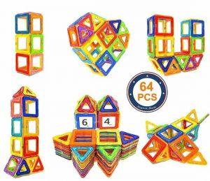 Soyee 64pcs Magnetic Blocks