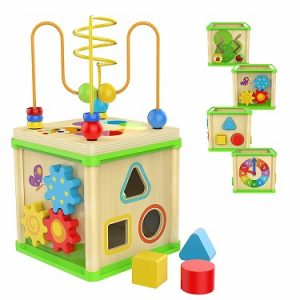 TOP BRIGHT Wooden Activity Cube