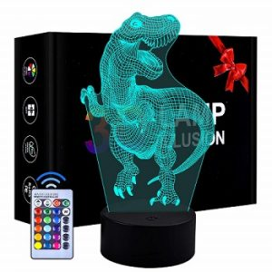 XIMEN 3D LED Dinosaur Night