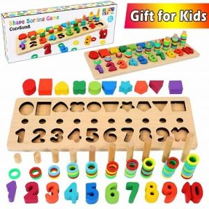 cozybomb wooden number puzzle