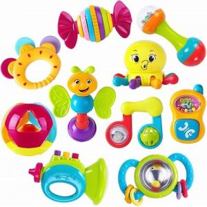 iPlay, iLearn 10pcs Baby Rattles Teether