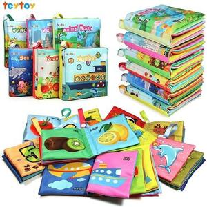 teytoy My First Soft Book, Nontoxic Fabric Baby Cloth Books