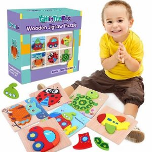 6 pack wooden jigsaw puzzles