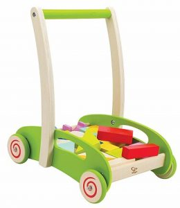 Hape Block and Roll Cart Toddler