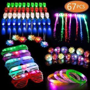 MIBOTE 67 PCs LED Light Up Toys