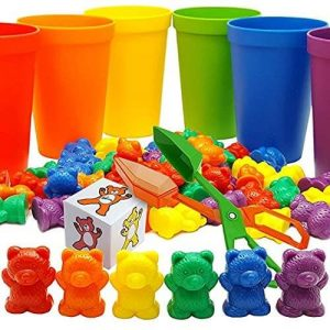 Skoolzy Rainbow Counting Bears