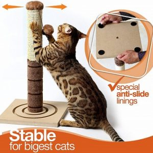 4 PAWS STUFF TALL CAT SCRATCHING POST CAT INTERACTIVE TOYS