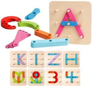 Kizh wooden letter number construction