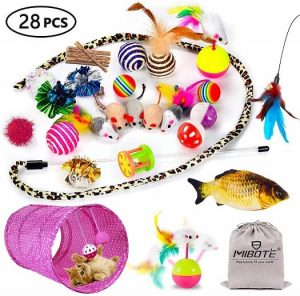 MIBOTE 28 Pcs Cat Toys Kitten Toys