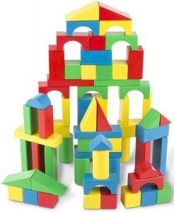 Melissa & Doug 100-Piece Wood Block