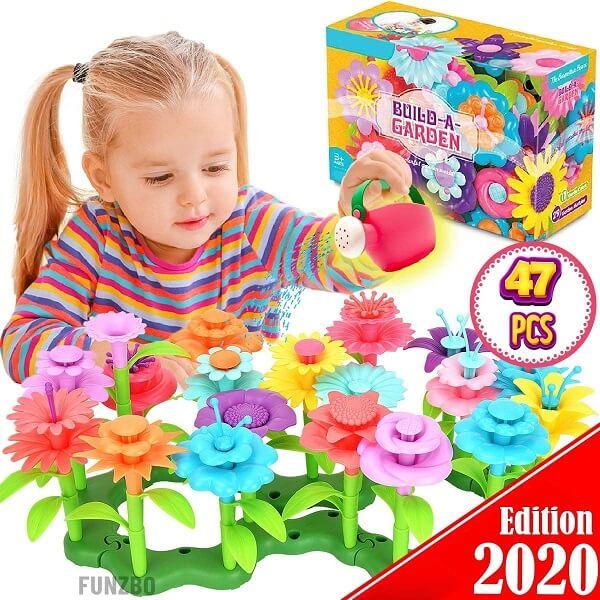 FunzBo Flower Garden Building Toys for Girls