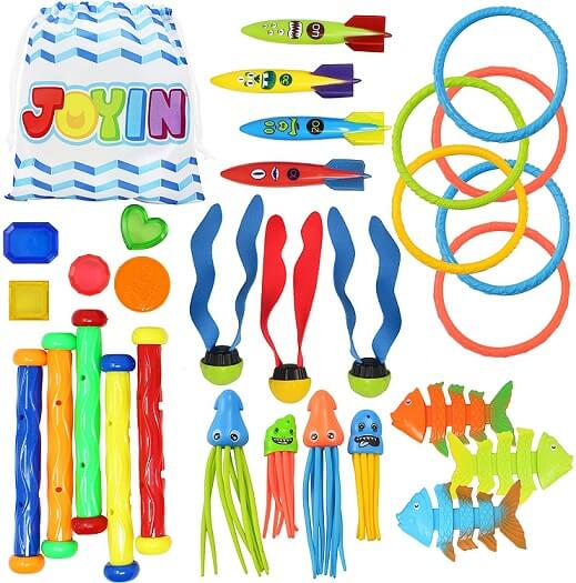 Joyin 30 Pcs Diving Pool Toys