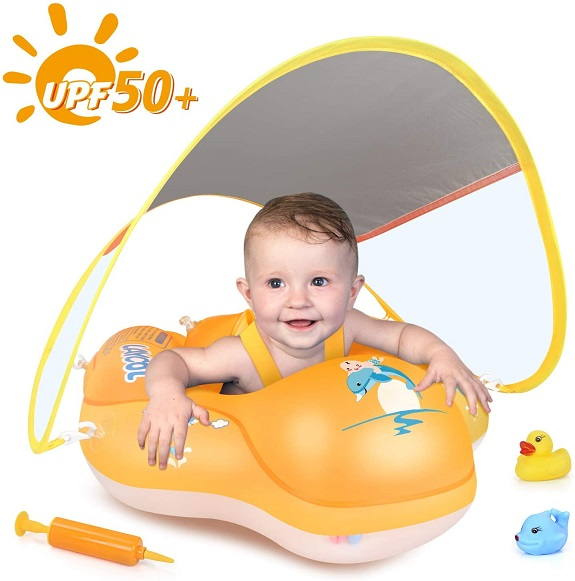 LAYCOL Baby Swimming Float Inflatable Baby Poo