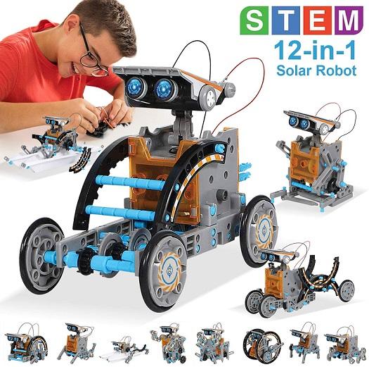 MAN NUO STEM Toy Solar Robot Kit