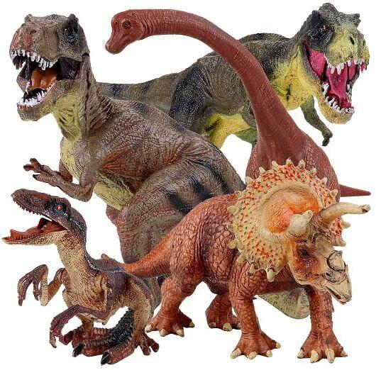Winsenpro 5PCS Jumbo Dinosaur Set